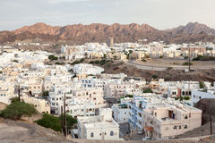 Budynki mieszkalni w muszkacie, Oman Obrazy Royalty Free