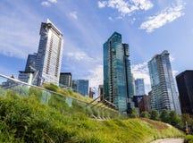 Budynki mieszkaniowi w w centrum Vancouver ` s Bunkrują schronienie obrazy stock