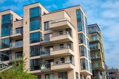 Budynki mieszkaniowi w Hamburg Fotografia Stock