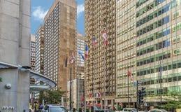 Budynki na Coner Sherbrooke i Stanley Zdjęcia Royalty Free