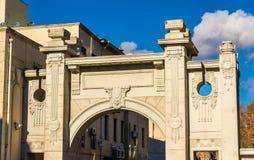 Budynki na Dimitri Uznadze ulicie Tbilisi obraz stock