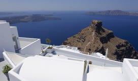 Budynki na Santorini wyspie Zdjęcia Royalty Free