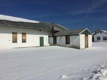Budynki na starej marynarki wojennej bazie A Zdjęcie Stock