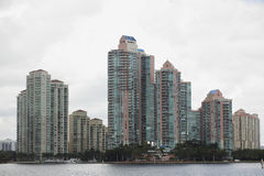 Budynki na zatoce Obraz Royalty Free
