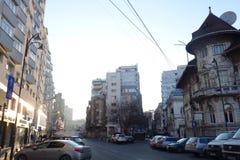 Budynki od różnych wieków w Lahovari obciosują w Bucharest Obraz Stock
