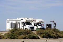 Budynki przemysłowy przedsięwzięcie zasolony Aigues-Mortes Zdjęcia Royalty Free