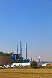 Budynki przemysłu park w pięknym krajobrazie Zdjęcia Royalty Free