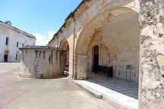 Budynki przy Castillo San Cristobal Obrazy Royalty Free
