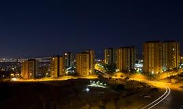 Budynki przy nocą Zdjęcie Stock