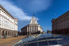 Budynki rada ministrów i Poprzedni partia komunistyczna dom w Sofia, Bułgaria zdjęcie stock