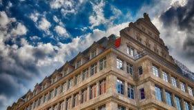 Budynki Reichsstrasse w Leipzig, Niemcy - zdjęcie stock