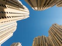 Budynki spacer w Dubaj Marina Fotografia Stock