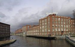 Budynki stary bieliźniany fabryczny Tampella w Tampere Zdjęcia Royalty Free