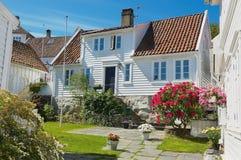 Budynki stary miasteczko w Stavanger, Norwegia Zdjęcie Royalty Free