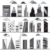budynki ustawiający Obrazy Stock