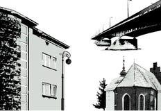budynki ustawiają wektor Zdjęcie Stock