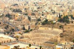 Budynki w Amman mieście, Jordania obrazy royalty free