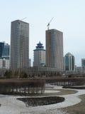 Budynki w budowie w Astana Obraz Stock