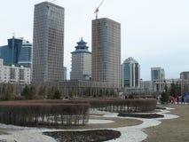 Budynki w budowie w Astana Obraz Royalty Free