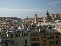 Budynki w w centrum genui, Włochy Obraz Royalty Free