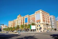 Budynki w centrum miasta Malaga, Andalusia, Hiszpania Fotografia Royalty Free