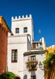 Budynki w centrum miasta Seville, Hiszpania zdjęcia royalty free