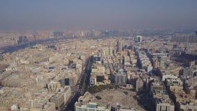 Budynki W emiracie Dubaj widok z lotu ptaka Dubaj, Zjednoczone Emiraty Arabskie Widok z lotu ptaka dzielnica biznesu zbiory