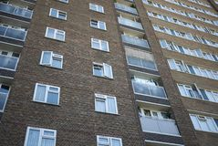 Budynki w Hackney centrali fotografia stock