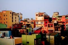 Budynki w Ho Chi Minh mieście, kapitał Wietnam Zdjęcie Stock