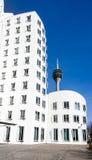 Budynki w Medialnym schronieniu Dusseldorf zdjęcia stock