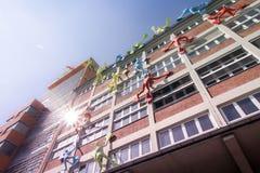 Budynki w Medialnym schronieniu Dusseldorf fotografia royalty free