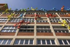 Budynki w Medialnym schronieniu Dusseldorf fotografia stock