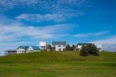Budynki w miasteczku Hornafjordur w Iceland Fotografia Royalty Free
