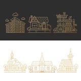 Budynki w mieście ilustracji
