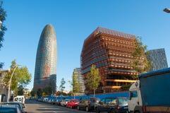 Budynki w mieście Barcelona w Hiszpania zdjęcia stock