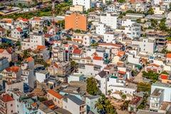 Budynki w Nha Trang od wzrosta obrazy stock