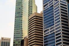 Budynki w Singapur mieście, Singapur - 13 2014 Wrzesień Obrazy Royalty Free