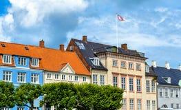 Budynki w starym miasteczku Helsingor, Dani - Zdjęcie Royalty Free