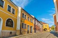Budynki w starym miasteczku Prerov, republika czech Obraz Royalty Free