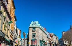 Budynki w starym miasteczku Quebec miasto, Kanada fotografia royalty free