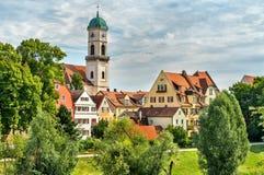 Budynki w Starym miasteczku Regensburg, Niemcy obrazy stock
