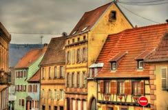 Budynki w Wasselonne, Alsace -, Francja obraz stock