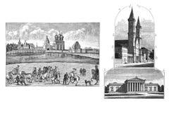 Budynki wieki średni ilustracja wektor