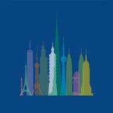 budynki wysocy Royalty Ilustracja