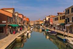 Budynki wzdłuż kanał grande w Wenecja obraz royalty free