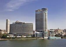 Budynki Wzdłuż Nil w Kair Zdjęcia Stock