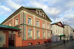 Budynki XIX wiek w historycznym okręgu miasto Tatar Sloboda obraz stock