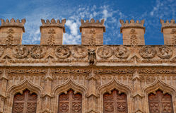 Budynki z koronkowymi przodami miasto Walencja Hiszpania Fotografia Stock