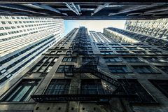 Budynki z schodkami fotografia royalty free