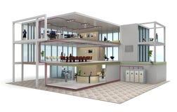 Budynku biurowego cutaway Zdjęcia Royalty Free